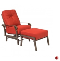 Picture of GRID Outdoor Aluminum Thick Cushion Movement Lounge Chair with Ottoman