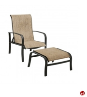 Picture of GRID Outdoor Aluminum Adjustable Dining Chair with Ottoman