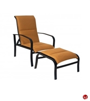 Picture of GRID Outdoor Aluminum Adjustable Dining Padded Chair with Ottoman