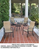 Picture of GRID Outdoor Aluminum High Back Swivel Rocker and High Back Dining