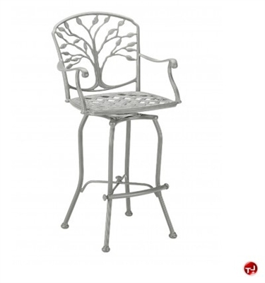 Picture of GRID Outdoor Aluminum Swivel Barstool Chair