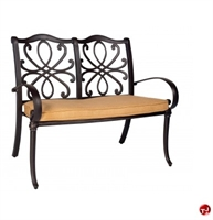 Picture of GRID Outdoor Aluminum 2 Seat Loveseat Bench