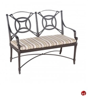 Picture of GRID Outdoor Aluminum 2 Seat Loveseat Bench with Seat Cushion