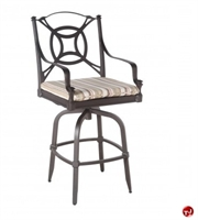 Picture of GRID Outdoor Aluminum Swivel Barsool Chair with Seat Cushion