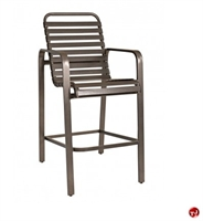 Picture of GRID Outdoor Aluminum Barstool Strap Arm Chair