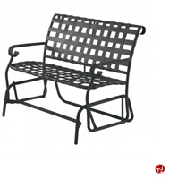 Picture of GRID Outdoor Aluminum 2 Seat Loveseat Strap Glider
