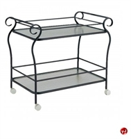 Picture of GRID Outdoor Aluminum Glass Shelf Mobile Tea Cart