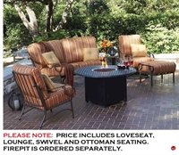 Picture of GRID Outdoor Aluminum Thick Cushion Lounge Chair, Swivel Rocker Chair and Curve Loveseat