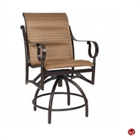 Picture of GRID Outdoor Aluminum Counter Stool Padded Swivel Chair