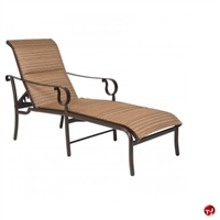 Picture of GRID Outdoor Aluminum Adjustable Chaise Lounge Padded Chair
