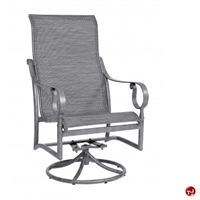 Picture of GRID Outdoor Aluminum High Back Swivel Rocking Sling Arm Chair