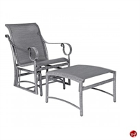 Picture of GRID Outdoor Aluminum Glider Lounge Sling Chair with Ottoman