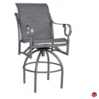 Picture of GRID Outdoor Aluminum Swivel Barstool Sling Chair
