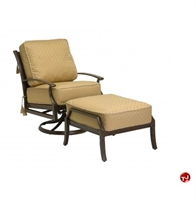 Picture of GRID Outdoor Aluminum Thick Cushion Lounge Swivel Rocker Chair with Ottoman