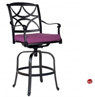 Picture of GRID Outdoor Aluminum Swivel Barstool Chair with Seat Cushion