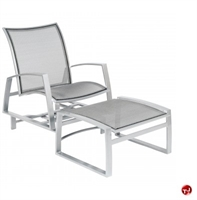 Picture of GRID Outdoor Aluminum Mesh Glider Lounge Chair with Ottoman