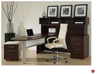 Picture of DMI Causeway Contemporary Laminate L Shape Office Desk with Overhead Storage