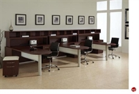 Picture of DMI Causeway Contemporary Laminate 3 Person L Shape Office Desk Workstation with Overhead Storage