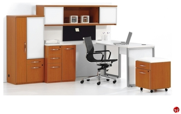Dmi Causeway Contemporary Laminate L Shape Office Desk Workstation Wall Mount And Combo Wardrobe