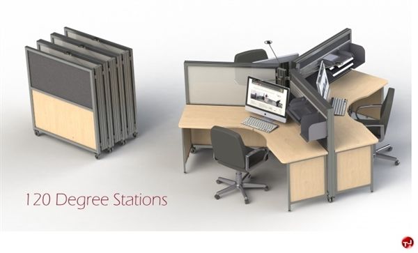 The Office Leader Peblo Cer Of 3 Person Mobile Folding