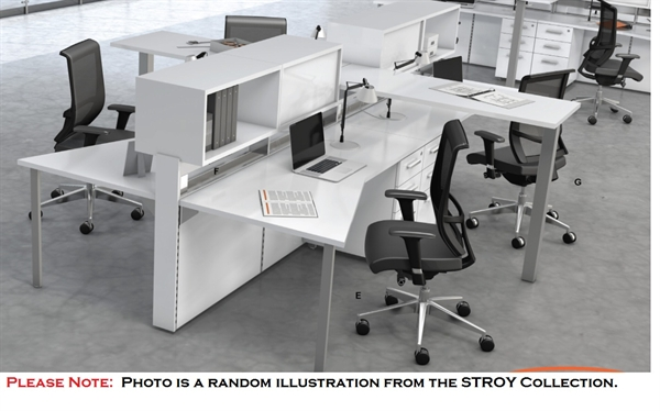 STROY 6 Person Bench Seating Office Desk Teaming Workstation Wtih Circuit  Power