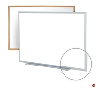 Picture of 4' x 4' Dry Erase Magentic Wood Trim Whiteboard