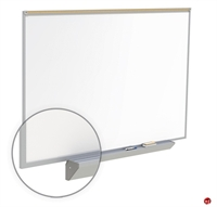 Picture of 4' x 10' Dry Erase Magentic Aluminum Trim Markerboard with Maprail