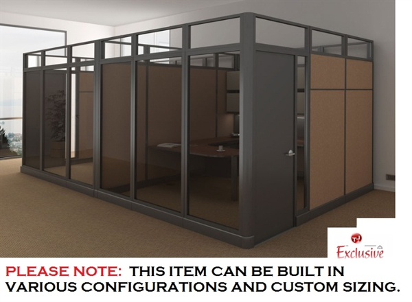 Etonnant PEBLO Cluster Of 2 Person Private Office Cubicle Workstation With Doors