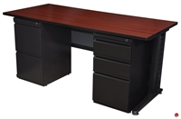 "Picture of Marino 24"" x 60"" Training Table with 2 Filing Pedestals"