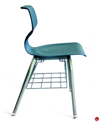 Picture of Vanerum Airley Poly Shell Classroom Chair with Bookrack