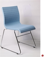 Picture of Vanerum Flow Armless Sled Base Poly Stack Chair