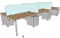 Picture of PEBLO Cluster of 6 Person Bench Seating Teaming Desk Workstation
