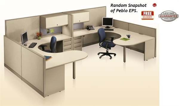 office leader peblo u shape reception desk office cubicle workstation