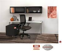 """Picture of STROY 24"""" x 60"""" Contemporary Office Desk with Wall Mount and Open Storage"""