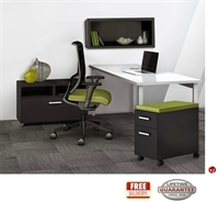 """Picture of STROY 24"""" x 60"""" Contemporary Office Desk with Wall Mount, Lateral File and Mobile Storage"""