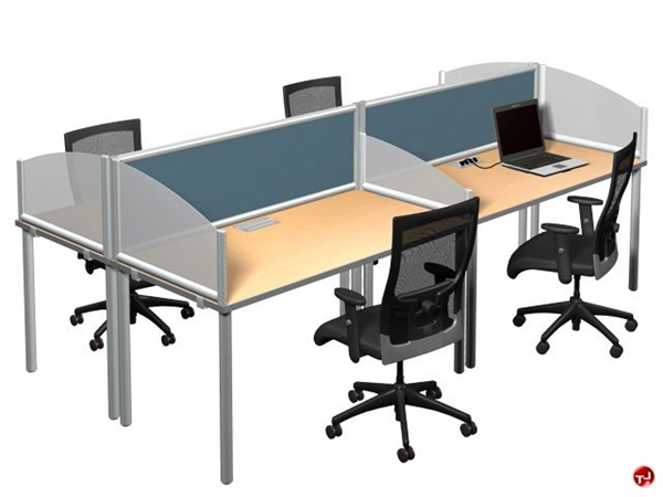 The Office Leader Optra Desk Mounted Privacy Divider Screen