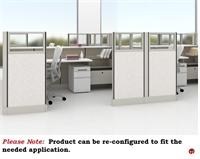 Picture of PEBLO Cluster of 4 Person L Shape Cubicle Desk Workstation