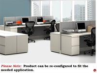 Picture of PEBLO 4 Person Shared Cubicle Desk Workstation