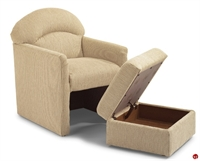 Picture of Flexsteel Healthcare Fenton Reception Lounge Club Chair with Ottoman