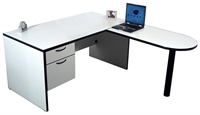 "Picture of 72"" D-Top L Shape Office Desk Workstation"