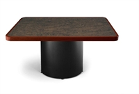 """Picture of Ovation 48"""" Square Conference Table with Drum Base"""