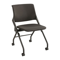 Picture of Armless Mobile Nesting Training Chair on Wheels