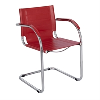 Picture of Contemporary Guest Side Sled Base Arm Chair