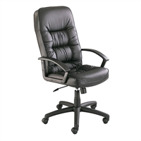 Picture of High Back Office Swivel Black Leather Conference Chair