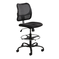 Picture of Mesh Back Office Task Drafting Stool Armless Chair