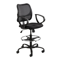 Picture of Mesh Back Office Task Drafting Stool Arm Chair