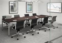 """Picture of 48"""" x 96"""" Contemporary Conference Meeting Table with Power Management"""