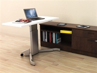 Picture of PEBLO Height Adjustable Training Table with Storage Credenza