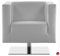 Ascot 1 Contemporary Reception Lounge Lobby Club Chair Swivel Base
