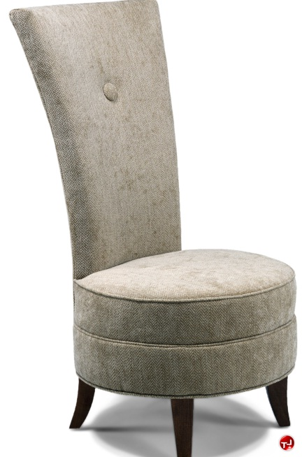 Flexsteel C2348 High Back Living Room Guest Side Armless Chair